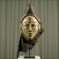 59664) Afrikanische Punu Holz Maske Gabun Afrika KUNST