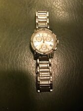 NOT WORKING Bulova Womens Stainless Steel Diamond Accented Classic Watch C837451