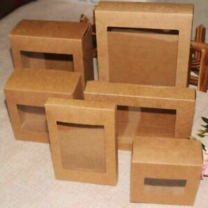10pcs Vintage Kraft Paper Brown Candy Box Gift Wedding Party Favour Supply