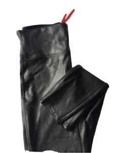 SPANX Faux Leather Leggings Black Size XL New
