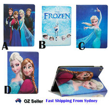 Frozen Anna Elsa Smart Magnetic Leather Cover Case Stand For iPad Air 2