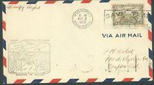Canada 1930 First Flight Cover winipeg-REGINA