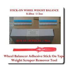 180 Pc 12 050oz Stick On Wheel Weight Balance Adhesive Scraper Remover Tool