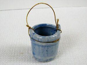 Miniature Dollhouse Porcelain Water Fishing Garden Bucket Planter - Multiple Ava