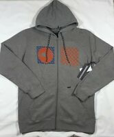 NWT Men's O'Neill Stateside Full Zip Gray Hoodie-Size L