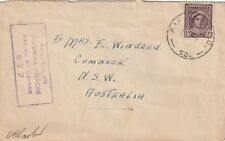 1944 Australia censored cover sent from Military Field PO to Cumnock NSW