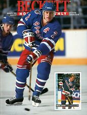 Brian Leetch Vintage Beckett Hockey Monthly Magazine January 1993 Issue #27