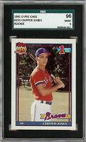Rare 1991 O-Pee-Chee #333 Chipper Jones Rookie Card Braves HOF SGC 96 / 9 Mint