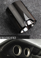 1Pcs For BMW M3 M4 F80 F82 F83 Car Style Carbon Fiber Exhaust Muffler Pipe Tip