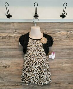 Speechless Toddler Girl Leopard Print Ruffle Brie Dress Sz. 2T NEW