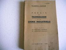 science TECHNOLOGIE CHIMIE INDUSTRIELLE Carré 1938 chauffage broyage mélanges