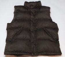 Polo Ralph Lauren Mens Brown Puffer Down Vest Jacket Full Zip Hooded Sz Large