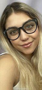 New PRADA VPR 0U8F KVS-1O1 52mm Cats Eye Gray Round Women's Eyeglasses Frame #6