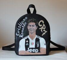 Zaino borsa Cristiano Ronaldo CR7 JUVENTUS vera pelle artigianale fatta a mano