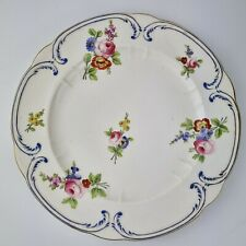 Antique 19th Century Derby Plate Decorated With Flowers 24.7cm Diameter