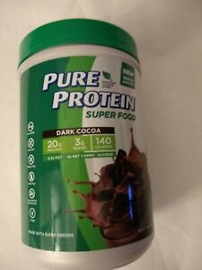 Pure Protein Super Food Plant-Based Protein Powder,DARK COCOA, EXP 07/20, 2 Jars