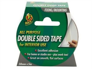 Duck Tape Double Sided Interior Multipurpose tape Fixing & Mounting 38mm x 5m