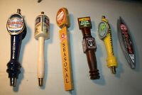 Vintage collection of various beer tap handles, lot of 6, Sam Adams, Stegmaier,