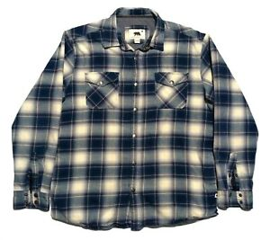 Dakota Grizzly Mens XL Long Sleeve Snap Plaid Thermal Lined Flannel Jacket Shirt