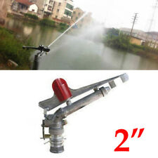 "2"" 360° Water Irrigation Spray Impact Sprinkler Large Area Lawn Garden Nozzle"