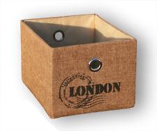KMH® Schrankkorb London 20 x 26 cm Regalkorb Aufbewahrungskorb Korb Kiste natur