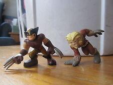 Marvel Super Hero Squad brown Wolverine and Sabertooth