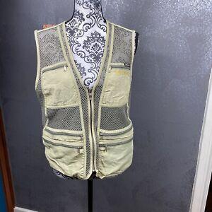 Spotex Olive Green Mesh Multi Pocket Hunting Fishing Vest. One Size