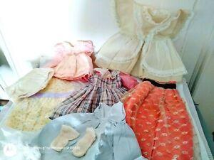 "Vintage Doll Dress Clothes LOT for 16-18"" Composition Cloth/Hard Plastic/Vinyl"