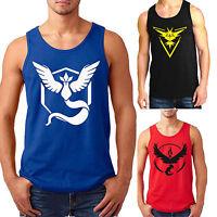 Pokemon Go Men Sports Vest Tank Tops Sleeveless Shirt Muscle Gym Fitness Casual