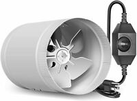 iPower 4/6/8 Inch Ventilation Booster Fan with Speed Controller for Grow Tent