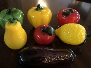 Murano Style Art Glass Fruit Vegetables