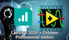 Labview 2020 Professional Edition and DIAdem Pro Lifetime Activation