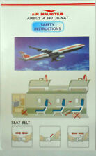 Airlines safety card - AIR MAURITIUS A340