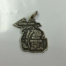 Vintage Sterling Silver Michigan State Charm
