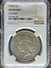 1934-S Peace Dollar - NGC AU Details Cleaned