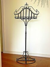 FRENCH PROVINCIAL MUSIC BOOK STAND BLACK  WROUGHT IRON NEW RECIPE WEDDING