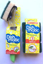 Cepillo de Lavado Dishmatic & Recarga Rascador de Limpieza Esponja Verde Resistente Nuevo