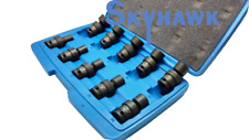 "10PC Metric 3/8"" Dr Impact Wrench Universal Swivel Socket Tool Set  Kit"
