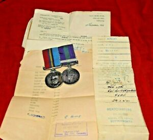 General Service Medal & Malaya Clasp & Rhodesia General service Medal  RAF