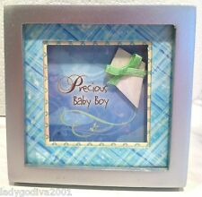 Little Blessings-Shadow Box Magnet by Ganz- 'Precious Baby Boy' - FREE Shipping