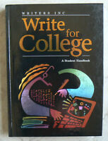Write for College Student Handbook W.Source NEW Grammar,Writing, gr.11,12,+