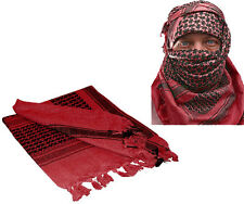 Red & Black Shemagh Tactical Desert Keffiyeh Arab Heavyweight Scarf