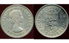 ROYAUME UNI  one shilling 1958 ( rev  ENGLISH  )