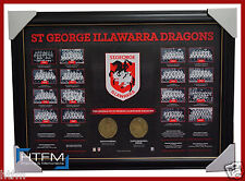 St George Illawarra Dragons The Historical Series Montage Print Framed NRL