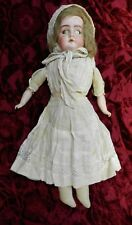 "21"" Antique Armand Marseille German Ruth 2/0 Bisque Leather Girl Doll"