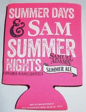 Samuel Adams Summer Ale Can Coozie - Coozy - Koozy...Pink-ish - NEW