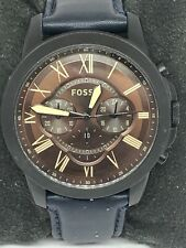 Fossil FS5088 Men's Leather Analog Brown Dial Quartz Genuine Wrist Watch QB323