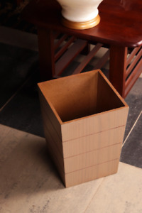 Wooden Trash bin garbage can decorative cube shape