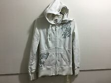 Ladies size medium embroided detail zipper front hooded sweatshirt