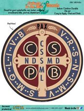 Saint Benedict Jubilee Medal Color Car Decal